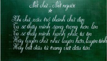 Gia sư luyện viết chữ đẹp tại Nha Trang