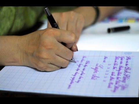 Luyện viết chữ đẹp cho người lớn tại nhà