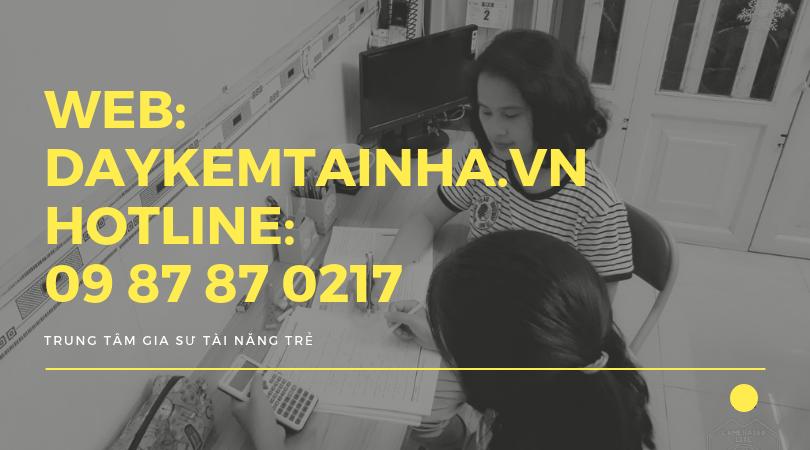 Cần gia sư dạy kèm môn tiếng Anh tại quận Tân Bình