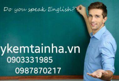 Cần gia sư dạy tiếng Anh tại quận 11